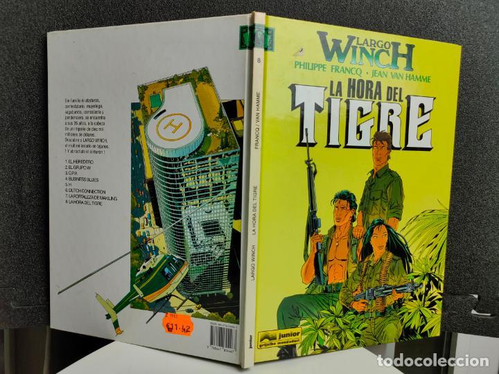 Cómics: LARGO WINCH - Nº 8 - LA HORA DEL TIGRE - FRANCQ, VAN HAMME - GRIJALBO - TAPA DURA - Foto 2 - 231210015