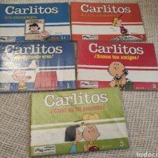 Comics : CARLITOS , LOTE 5 EJEMPLARES , SNOOPY / SCHULZ , Nº 1,2,3,5,11, ED. GRIJALBO - NUEVOS. Lote 52880149