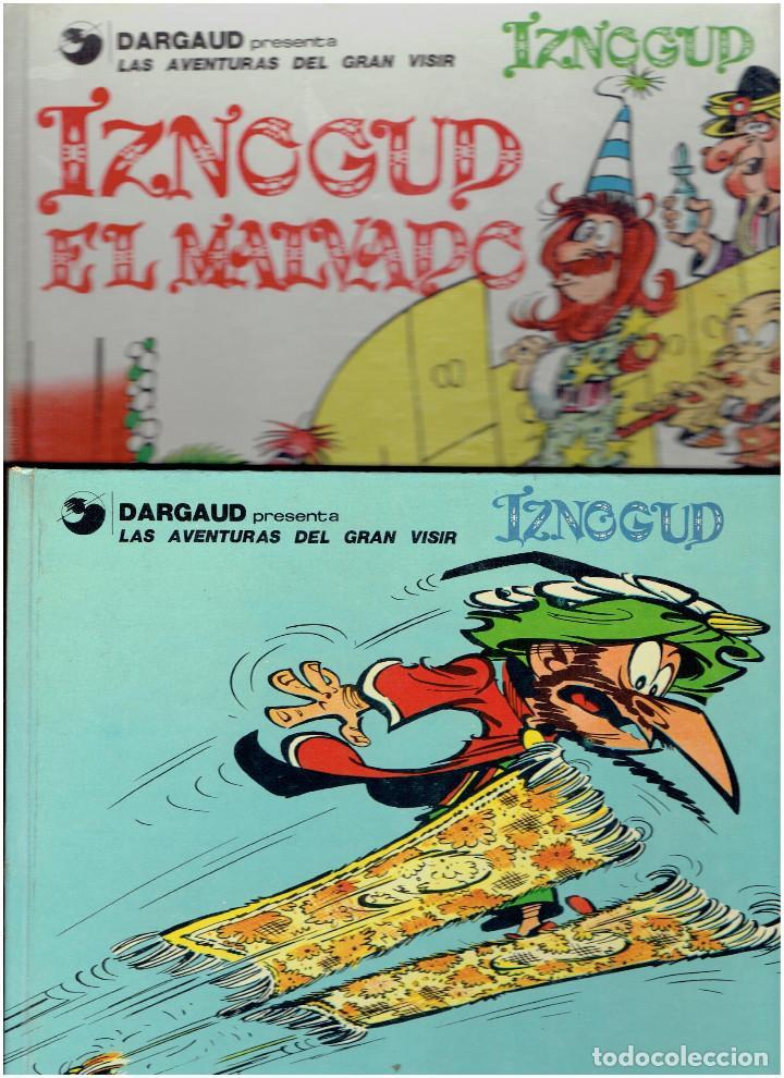 * LAS AVENTURAS DEL GRAN VISIR IZNOGUD * Nº 3 Y 5 * EDICIONES JUNIOR / GRIJALBO 1980 * (Tebeos y Comics - Grijalbo - Iznogoud)