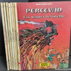 Cómics: PERCEVAN - TOMOS DEL 1 AL 7 - LETURGIE.LUGUY - GRIJALBO - TAPA DURA. Lote 233109685