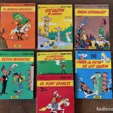 Cómics: LUCKY LUKE. 7 CÓMICS, EDICIONES JUNIOR. CARTONÉ. Lote 233203570