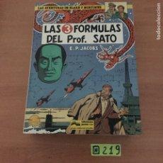 Cómics: BLAKE Y MORTIMER 12: LAS 3 FORMULAS DEL PROFESOR SATO. Lote 234132010