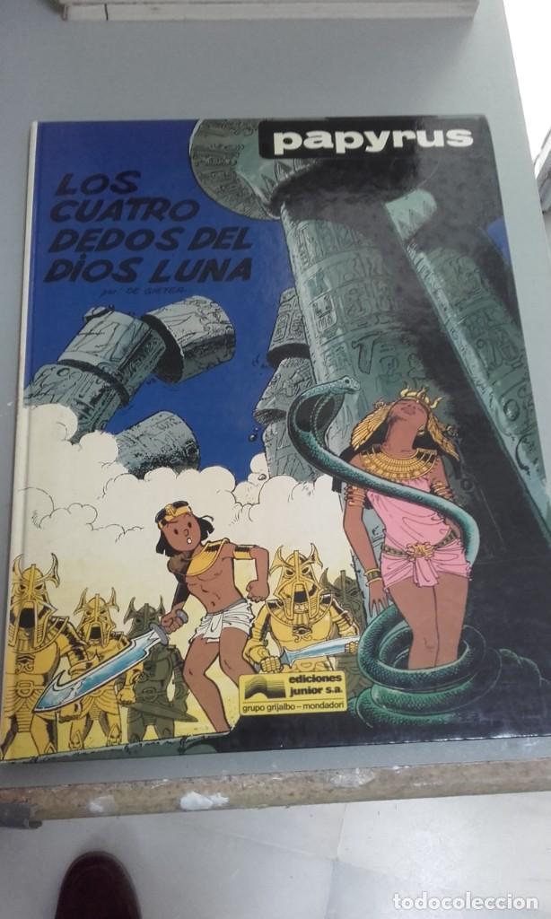 X PAPYRUS 6. LOS CUATRO DEDOS DEL DIOS LUNA, DE DE GIETER (GTIJALBO) (Tebeos y Comics - Grijalbo - Papyrus)
