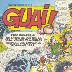 Cómics: GUAI Nº13. EDICIONES JUNIOR, 1986. IBÁÑEZ, RAF, GIRAUD, BLUEBERRY, ASTÉRIX, LUCKY LUKE, PERCEVAN.... Lote 235276520