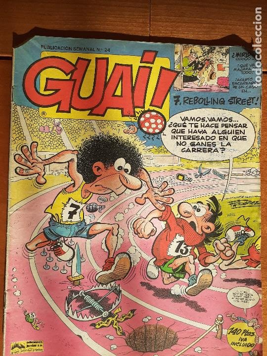 GUAI! Nº 24. CON ASTERIX, LUCKY LUKE, MARLKOWE. EDICIONES JUNIOR GRIJALBO 1986 (Tebeos y Comics - Grijalbo - Otros)