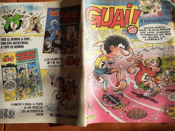 Cómics: Guai! Nº 24. Con Asterix, Lucky Luke, Marlkowe. Ediciones Junior Grijalbo 1986 - Foto 2 - 235903550