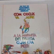 Cómics: ASTERIX - COM OBELIX VA CAURE A LA MARMITA DEL DRUIDA QUAN ERA PETIT - ED. JUNIOR 1989, 1ª EDICIO. Lote 235975850