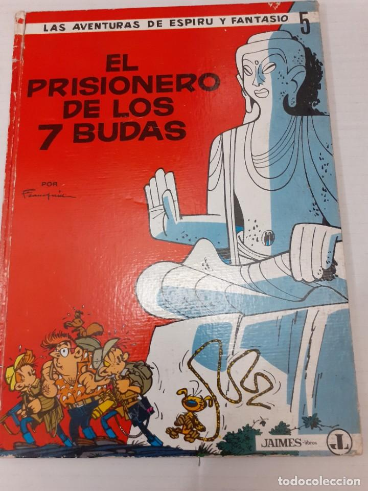 ESPIRU I FANTASIO Nº 5 - EL PRISIONERO DE LOS 7 BUDAS - JAIMES 1967 - BIEN Y DIFICIL (Tebeos y Comics - Grijalbo - Spirou)