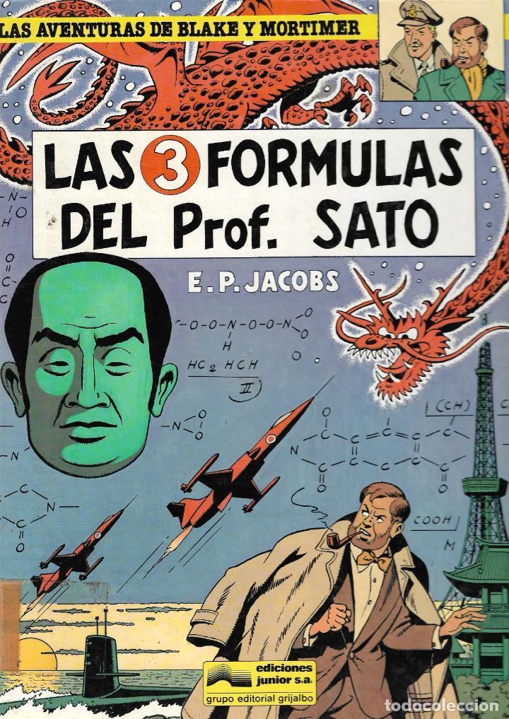 LAS AVENTURAS DE BLAKE Y MORTIMER - LAS 3 FÓRMULAS DEL PROF. SATO - Nº 8 - ED. JUNIOR GRIJALBO 1986. (Tebeos y Comics - Grijalbo - Blake y Mortimer)