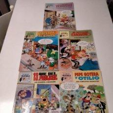 Cómics: LOTE CÓMICS EL MEJOR IBÁÑEZ NÚMEROS 3,4,5,6 Y 8 ROMPETECHOS, EL BOTONES SACARINO,LA FAMILIA TRAPISON. Lote 242878550
