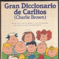 Cómics: GRANDICCIONARIO DE CARLITOS CHARLIE BROWN EDICIONES JUNIOR. Lote 243413895