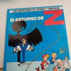 Cómics: X SPIROU Y FANTASIO 18. EL RETORNO DE Z (GRIJALBO). Lote 244021015