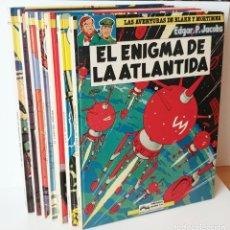 Cómics: FANTASTICO LOTE LAS AVENTURAS DE BLAKE Y MORTIMER 7 VOLUMENES EL 4-5-7-8-9-10-11. Lote 244402170
