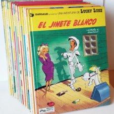 Cómics: TEBEOS LUCKY LUKE 14 TOMOS TAPA DURA 2-7-8-9-12-13-14-15-19-21-22-28-29-36 + 1 RANTANPLAN EL Nº1. Lote 244665975