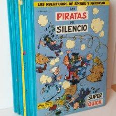 Cómics: LOTE 6 TOMOS LAS AVENTURAS DE SPIROU Y FANTASIO (8-9-10-12-14-15 )EL 12 ES TAPA BLANDA. Lote 244826180