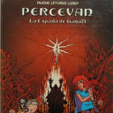 Fumetti: FAUCHE, LÉTURGIE, LUGUY. PERCEVAN Nº 3. LA ESPADA DE GANAËL. GRIJALBO 1986. Lote 246615300