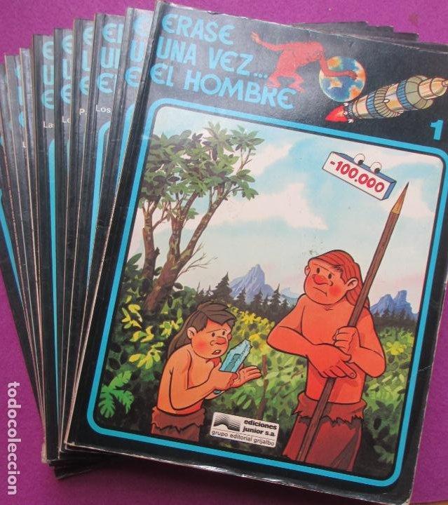 COLECCION COMPLETA TEBEOS ERASE UNA VEZ... EL HOMBRE 13 TEBEOS (Tebeos y Comics - Grijalbo - Otros)