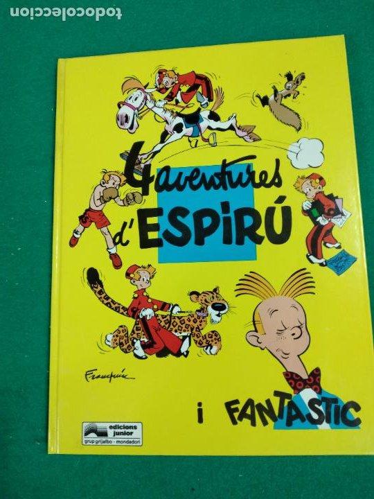4 AVENTURES D'ESPIRU I FANTASTIC. FRANQUIN. EDICIONES JUNIOR 1992. (Tebeos y Comics - Grijalbo - Spirou)