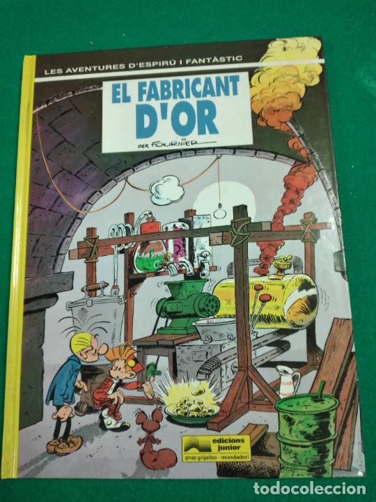 LES AVENTURES D'ESPIRU I FANTASTIC Nº 33. EL FABRICANT D'OR. EDICIONS JUNIOR 1993. (Tebeos y Comics - Grijalbo - Spirou)
