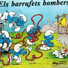 Cómics: ELS BARRUFETS BOMBERS - EDICIONES JUNIOR 1982 - LLIBRE IL·LUSTRAT PER PEYO, MOLT DIFICIL. Lote 248460385