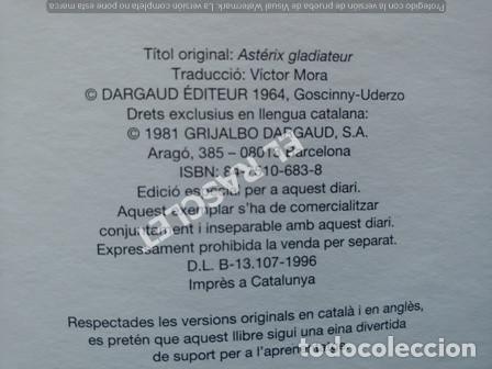 Cómics: ASTERIX - GLADIADOR - EDITADO EN INGLES / CATALAN - Foto 3 - 251396400