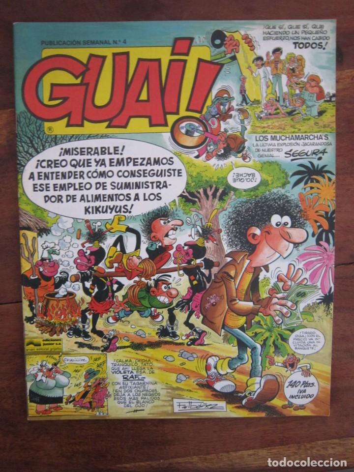 Cómics: LOTE DE 48 CÓMICS GUAI! IBAÑEZ. JUNIOR GRIJALBO-EDICIONES B. EXCELENTE ESTADO TEBENI - Foto 2 - 41841808