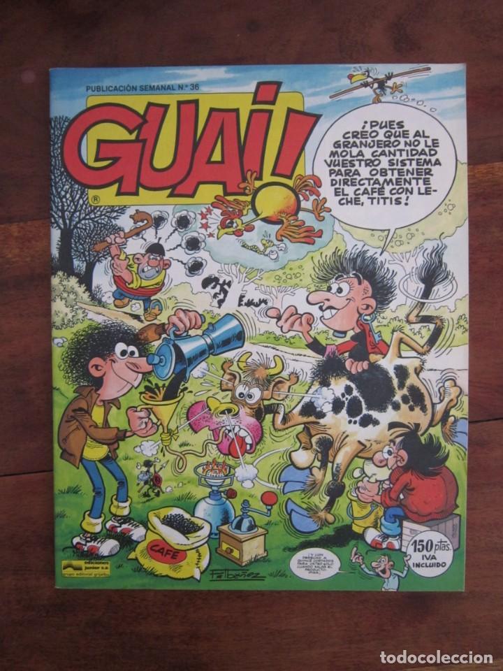 Cómics: LOTE DE 48 CÓMICS GUAI! IBAÑEZ. JUNIOR GRIJALBO-EDICIONES B. EXCELENTE ESTADO TEBENI - Foto 36 - 41841808