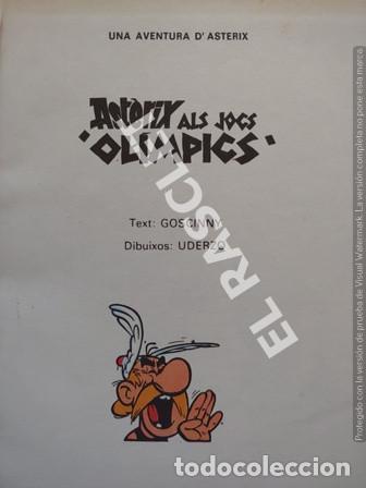 Cómics: ASTERIX - ALS JOCS OLÍMPICS - CATALÁN - NUMERO 5 - TAPAS DURAS - Foto 2 - 253692045