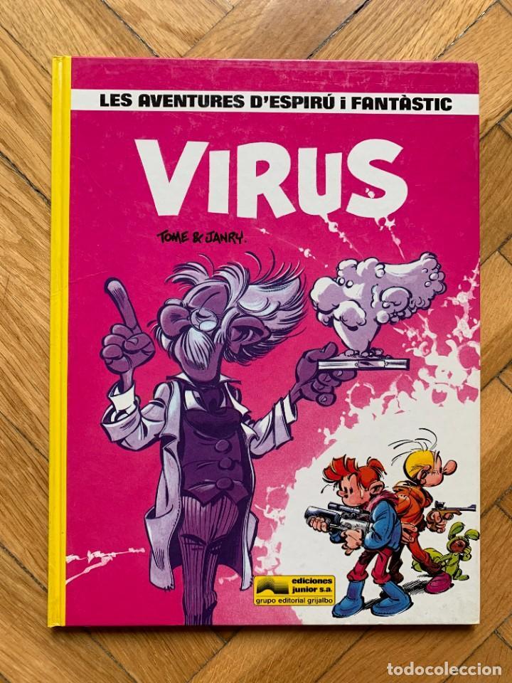 ESPIRÚ: LES AVENTURES D'ESPIRU I FANTASTIC Nº 19: VIRUS - CATALÁ - D2 - MUY BUEN ESTADO (Tebeos y Comics - Grijalbo - Spirou)