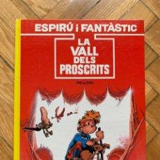 Cómics: ESPIRÚ: LES AVENTURES D'ESPIRU I FANTASTIC Nº 27: LA VALLE DELS PROSCRITS - CATALÁ - SIN ABRIR. Lote 254843685