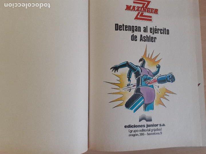 Cómics: Mazinger Z Nº 2. Detengan al ejército de Ashler. Ediciones Junior. Editorial Grijalbo 1978 - Foto 5 - 257304835
