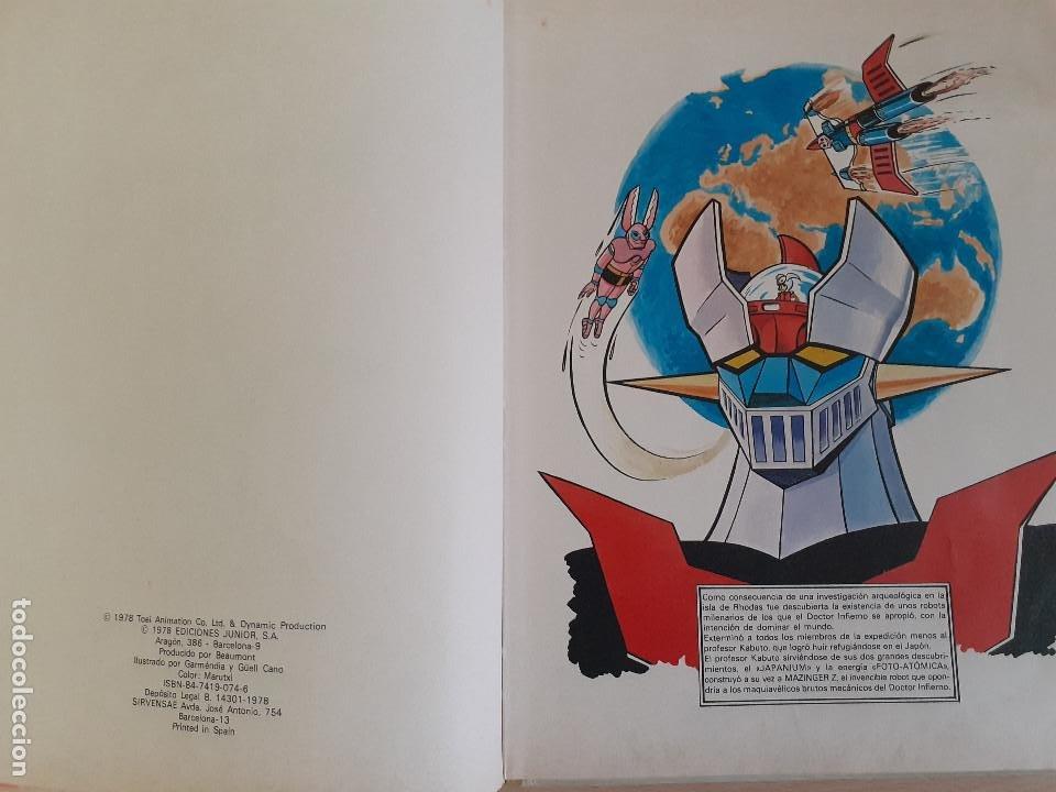Cómics: Mazinger Z Nº 2. Detengan al ejército de Ashler. Ediciones Junior. Editorial Grijalbo 1978 - Foto 6 - 257304835