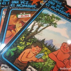 Cómics: ERASE UNA VEZ EL HOMBRE-COLECCIÓN COMPLETA 13 COMICS-EDICIONES JUNIOR-VER FOTOS-(V-22.692). Lote 259332195