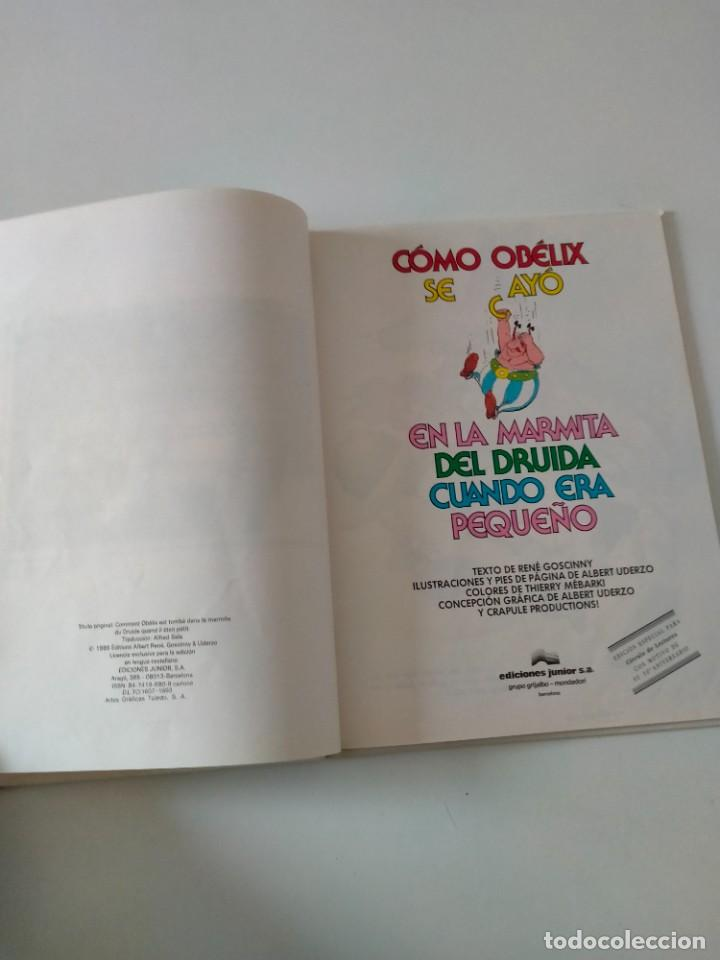Cómics: Astérix Cómo Obélix se cayó en la marmita del druida Ediciones Junior Año 1993 - Foto 4 - 260457900