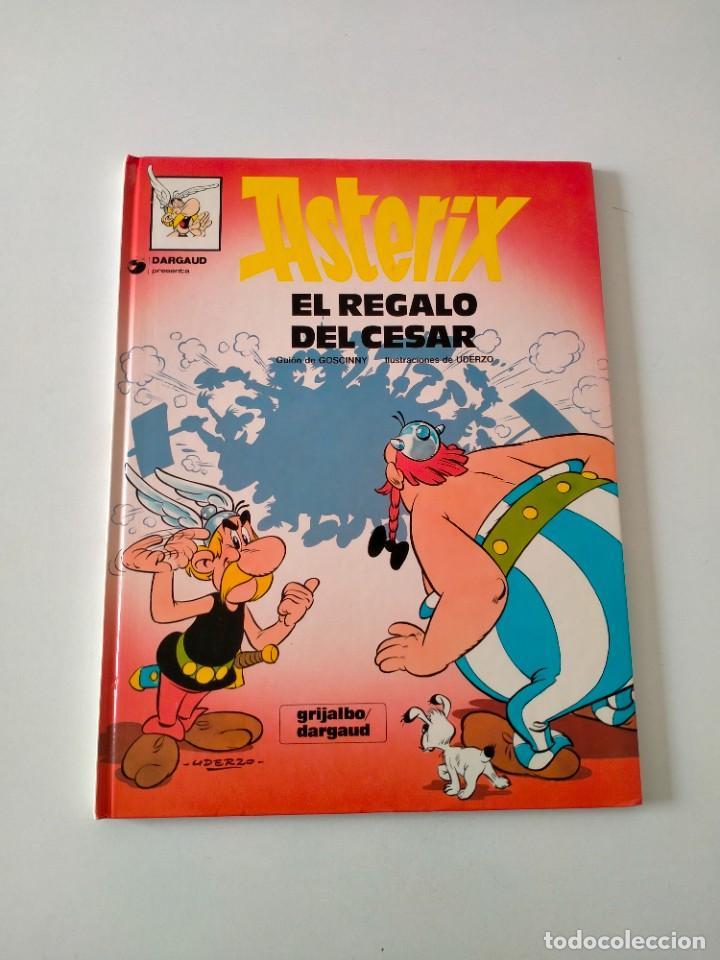 ASTÉRIX NÚMERO 21 EL REGALO DEL CÉSAR GRIJALBO-DARGAUD AÑO 1993 TAPA DURA (Tebeos y Comics - Grijalbo - Asterix)