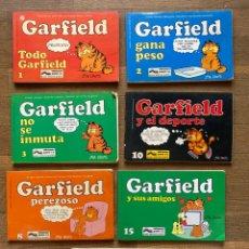 Cómics: LOTE 7 CÓMICS GARFIELD - JIM DAVIS - EDICIONES JUNIOR GRIJALBOAÑOS 80. Lote 260545325