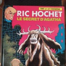 "Cómics: DESCATALOGADO-RIC HOCHET ""LE SECRET D´AGATHA"" FRANCÉS AÑOS 80 LOMBARD -BUEN ESTADO. Lote 260816950"
