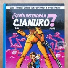 Cómics: SPIROU Y FANTASIO Nº 21 - ¿QUIÉN DETENDRÁ A CIANURO? - TOME & JANRY - JUNIOR 1989. Lote 262435095