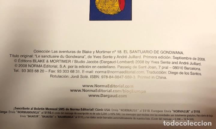 Cómics: LAS AVENTURAS DE BLAKE Y MORTIMER Nº18. EL SANTUARIO DE GODWANA - Foto 3 - 262866500