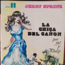Cómics: JERRY SPRING #1-LA CHICA DEL CAÑÓN-TAPA BLANDA-SEPP MUNDIS-BUEN ESTADO. Lote 263190220