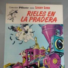 Cómics: LUCKY LUKE RIELES EN LA PRADERA 1974 1° EDICION BRUGUERA PILOTE. Lote 265337969