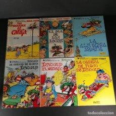 Fumetti: LOTE 6 NÚMEROS LAS AVENTURAS DE IZNOGUD HARUN EL PUSSAH - GOSCINNY 1 2 3 4 5 6 BRUGUERA GRIJALBO. Lote 265405624