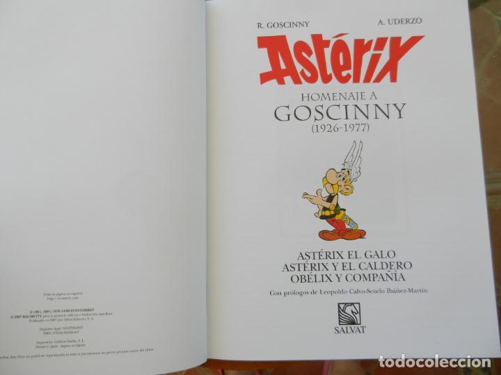 Cómics: ASTERIX, HOMENAJE A GOSCINNY - UDERZO Y GOSCINNY TAPA DURA CON SOBRECUBIERTA -2007 - Foto 9 - 268130849