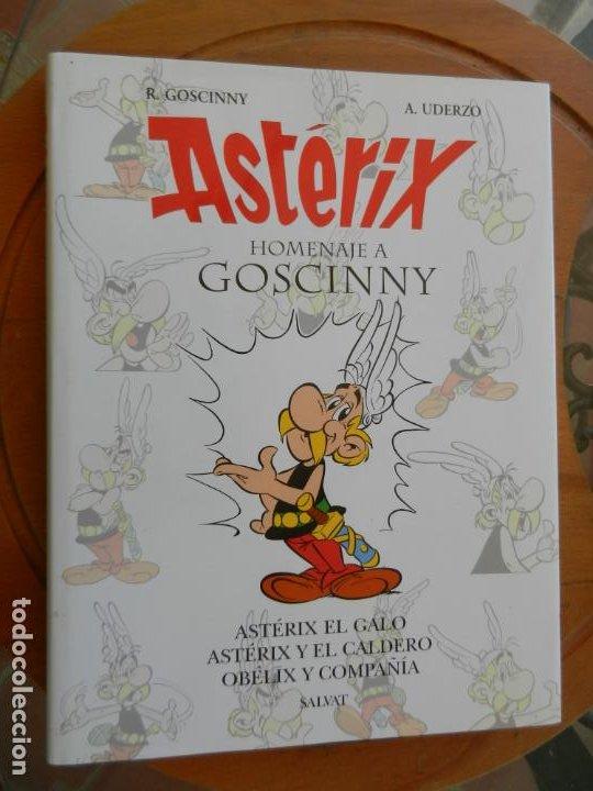ASTERIX, HOMENAJE A GOSCINNY - UDERZO Y GOSCINNY TAPA DURA CON SOBRECUBIERTA -2007 (Tebeos y Comics - Grijalbo - Asterix)