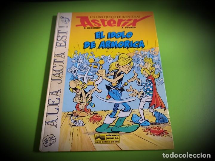 EL ÍDOLO DE ARMORICA - GOSCINNY/UDERZO EDICIONES JUNIOR-GRIJALBO-LIBRO JUEGO RESERVADO *** (Tebeos y Comics - Grijalbo - Asterix)