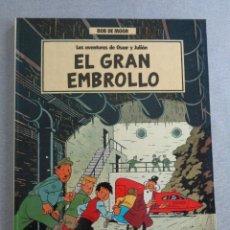 Cómics: AVENTURAS DE OSCAR Y JULIÁN Nº 1 - EL GRAN EMBROLLO - BOB DE MOOR - 1ª ED. 1988 - JUNIOR / GRIJALBO. Lote 297073153