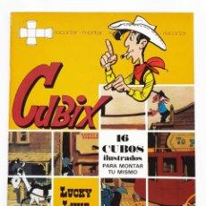 Comics : LUCKY LUKE CUBIX - 16 CUBOS ILUSTRADOS PARA MONTAR - EDICIONES DISTEIN - 1973. Lote 270167483