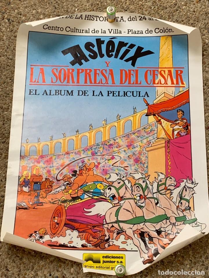 POSTER ASTERIX Y LA SORPRESA DEL CESAR III SEMANA HISTORIETA JUNIO AÑOS 70 70X50CMS (Tebeos y Comics - Grijalbo - Asterix)