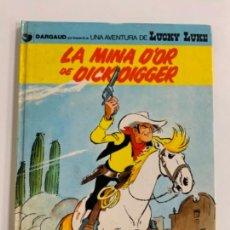 Cómics: PRECIOSO COMIC DE LUCKY LUKE: LA MINA D'OR DE DICK DIGGER - EN CATALÀ. NUM 49. GRIJALBO DARGAUD. Lote 275065088