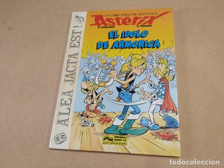 ASTÉRIX - EL ÍDOLO DE ARMORICA - ALEA JACTA EST Nº 2 - LIBRO-JUEGO DE AVENTURAS - MUY BUEN ESTADO (Tebeos y Comics - Grijalbo - Asterix)